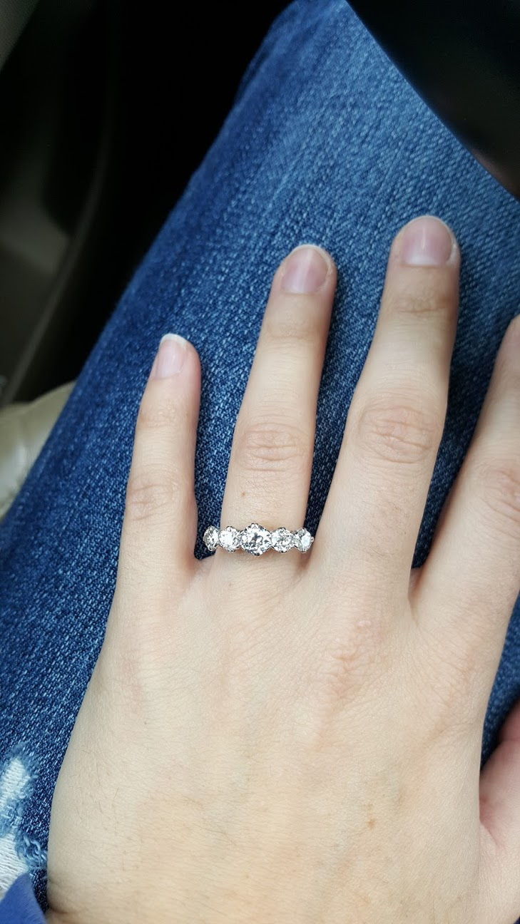 CN proposed with his great-grandmothers ring. She was an amazing woman who travelled from England to New Zealand and back. The ring is from London circa 1904!